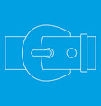 metal buckle icon outline style vector image vector image