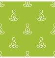 minimalistic yoga sign seamless pattern vector image