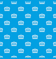 monarchy crown pattern seamless blue vector image vector image