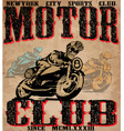 motorcycle tee shirt graphic design vector image