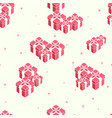 new year holidays seamless pattern vector image