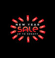 new year sale sign vector image
