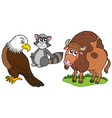 north american animals collection vector image