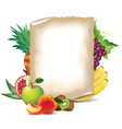paper fruits vector image vector image