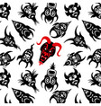 pattern collection of the dead devil mask vector image vector image