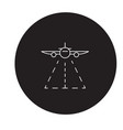 plane landing black concept icon plane vector image vector image