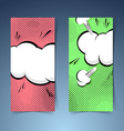 Pop-art banner collection with explosion cloud vector image
