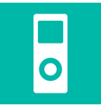 Portable media player icon flat design style vector image vector image