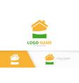 real estate logo unique house logotype vector image