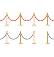 realistic detailed 3d shiny metal barrier rope set vector image vector image
