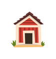 red doghouse on a white vector image