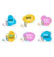 refer friends badges with loudspeaker shop promo vector image