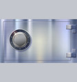 safety deposit box for storing money safe lock on vector image vector image