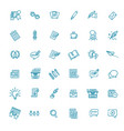 set copywriting related line icons vector image