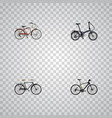 set of bike realistic symbols with cruise bicycle vector image vector image
