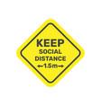 social distancing icon 15 metres distance vector image