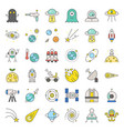 space exploration icon set filled outline design vector image
