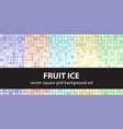 square pattern set fruit ice seamless tile vector image vector image
