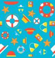 summer seamless pattern bikini straw hat beach vector image vector image
