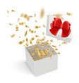 surprise boxes opened gift cardboard containers vector image