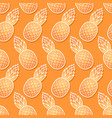 sweet pineapple diagonal seamless pattern vector image vector image