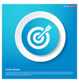 target icon abstract blue web sticker button vector image
