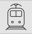 train transportation icon on isolated transparent vector image vector image