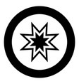 trendy retro star icon black color in circle or vector image vector image