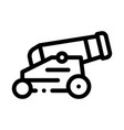 vintage cannon icon outline vector image vector image