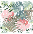 wild forest jungle seamless pattern vector image vector image