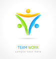 Team work design template Creative social network vector image