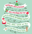 christmas card design background vector image