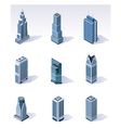 isometric buildings skyscrapers vector image