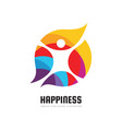 active happiness - concept business logo template vector image vector image