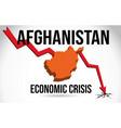 afghanistan map financial crisis economic vector image