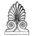 antefix is a from parthenon vintage engraving vector image vector image