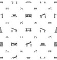 barrier icons pattern seamless white background vector image vector image