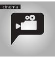 black and white style icon cinema camera vector image