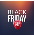 Black Friday Sale background Discount balloon 50 vector image