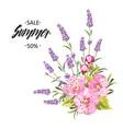botanical flowers garland vector image vector image