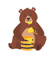 cartoon brown grizzly bear vector image