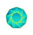 circular precious stone poster vector image