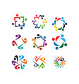 community people organization logo icon template vector image vector image