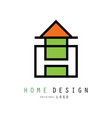 creative logo for construction or vector image vector image