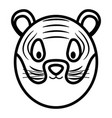 cute tiger head childish character vector image