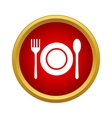 Cutlery set icon in simple style vector image vector image