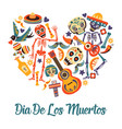 day dead mexican holiday or fiesta dia de los vector image