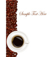 design with cup coffee vector image vector image