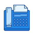 fax line icon vector image vector image