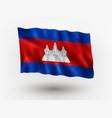 flag cambodia vector image vector image
